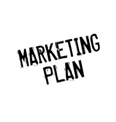 marketing plan rubber stamp vector image vector image