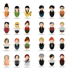 Modern set of people vector image