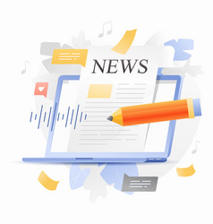 Online news update vector