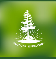 outdoor logo vector image