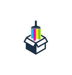 package paint logo icon design vector image