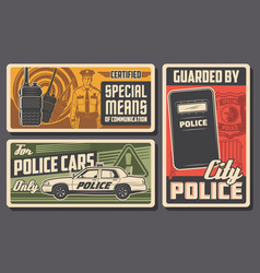 police force patrol and policing law and order vector image