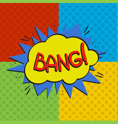 Pop art bang logo vector