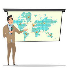 Project presentation business characters vector