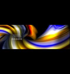 rainbow color fluid wave lines flow poster wave vector image