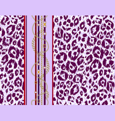 repeating violet pattern vector image