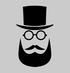 retro gentleman icon hipster art vector image