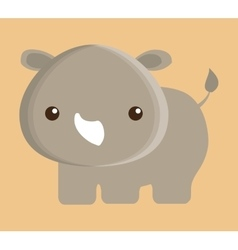 Rino animal cute little design vector