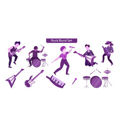 rock band performance flat vector image