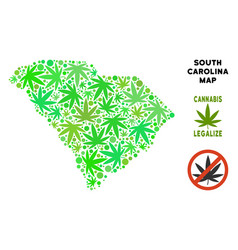 Royalty free marijuana leaves mosaic south vector