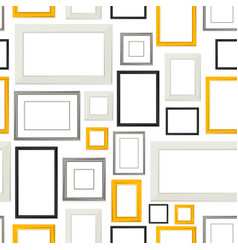 seamless pattern of various frames for pictures vector image