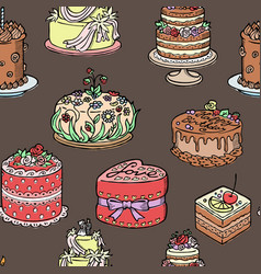 seamless pattern with wedding birthday and big vector image