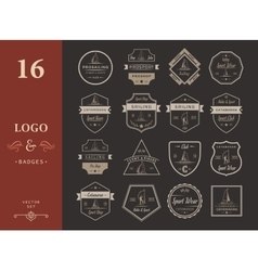 Set Catamaran Logos and Badges vector image