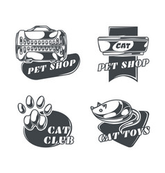 set cats emblems labels badges logos vector image