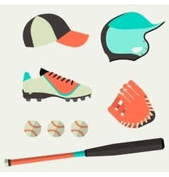 Set of baseball club icons design elements vector image