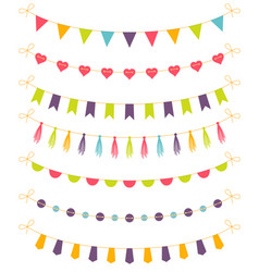 set of colorful garlands vector image