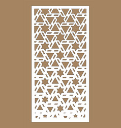 Shade screen privacy fence template laser cut vector