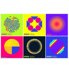 Simplicity geometric design set clean lines and vector