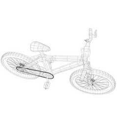 sport isolated bicycle wireframe concept vector image