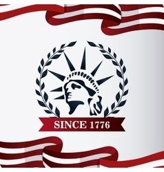 Statue liberty design vector