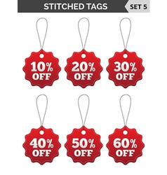 Stitched tags Set 5 vector