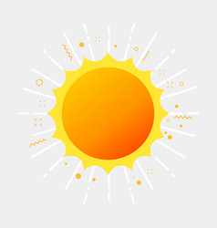 sunlight and sunshine summer pictogram vector image