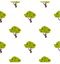tall tree with fruits pattern flat vector image