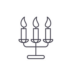 tasty candles line icon concept tasty candles vector image