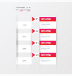 timeline pink gradient color vector image