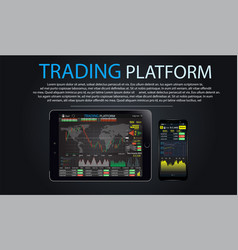 trade market binary option vector image