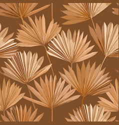 tropical dry palm leaves seamless pattern vector image