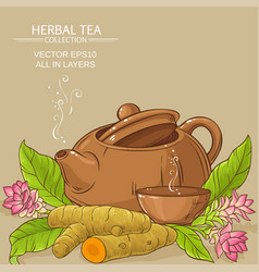 Turmeric tea vector