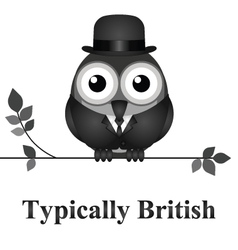 Typically British vector image