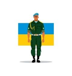 Ukrainian army soldier cartoon vector