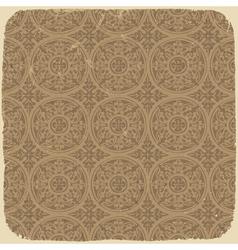 vintage beige pattern vector image