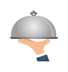 Waiter hand symbol vector