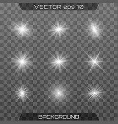 white glowing light vector image