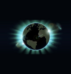 World globe eclipse background vector