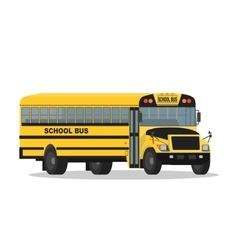 Yellow school bus isolated on white vector