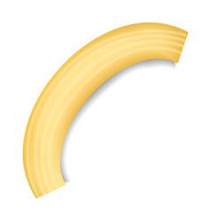 Ziti pasta mockup realistic style vector
