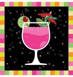cocktail greeting card vector image