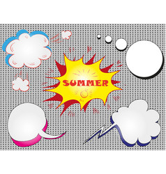 colorful speech bubbles with text hello vector image vector image