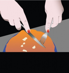 knife and spoon vector image vector image