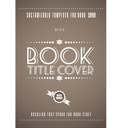 Minimal modern book cover template vector image