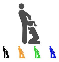oral sex persons icon vector image vector image