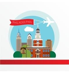 Philadelphia detailed silhouette Trendy vector image