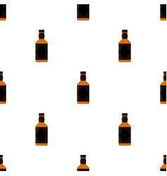 Rum bottles pattern whiskey brandy liquor rum for vector