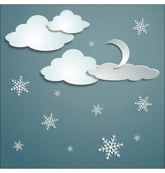 Snowflakes moon vector