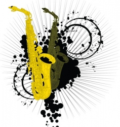abstract saxophones vector image vector image