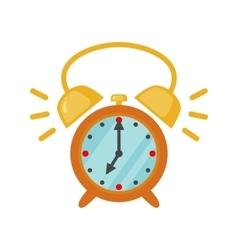 Alarm clock icon in flat style vector
